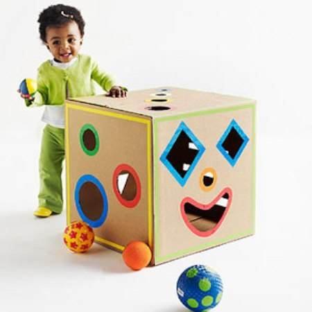 Детские игрушки из картона