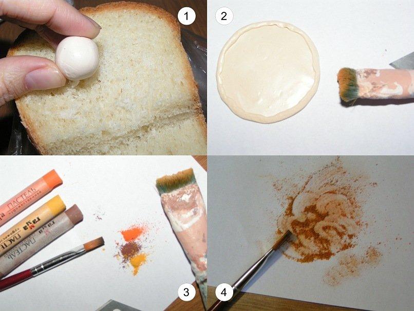 Eда из полимерной глины для кукол: фото мастер класс и пошаговая видео-инструкция