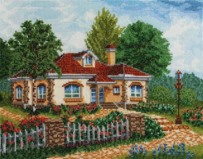 Схемы вышивки крестом пейзажи домов