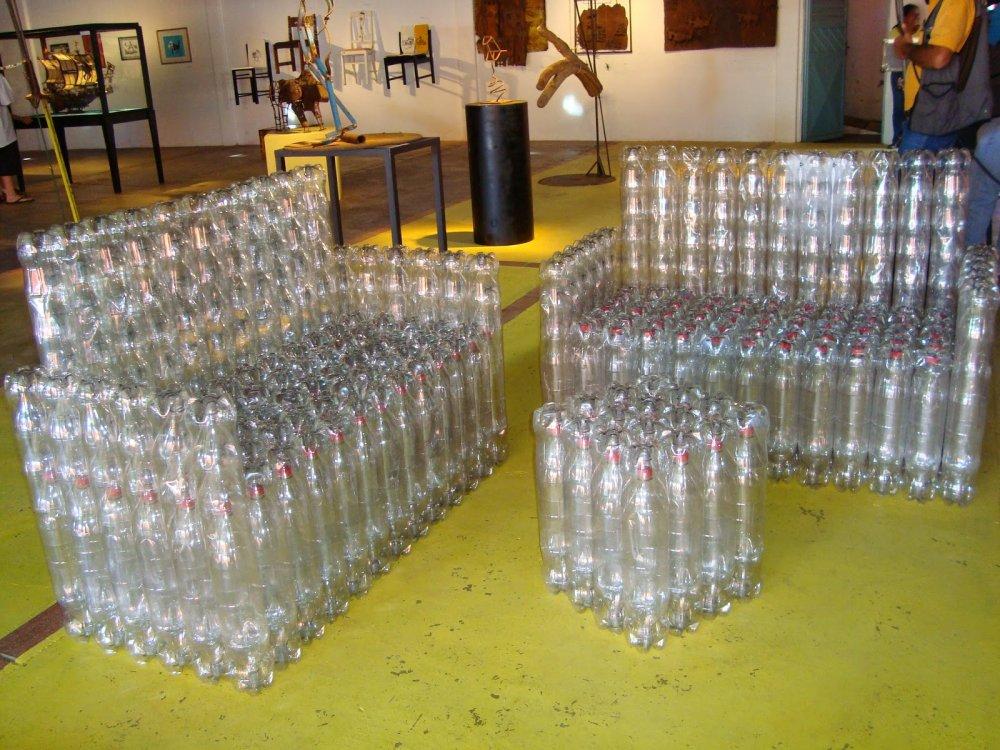 Мастер-класс по мебели из пластиковых бутылок своими руками