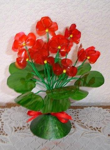 поделки из пластмассовых бутылок своими руками цветы с инструкция - фото 10