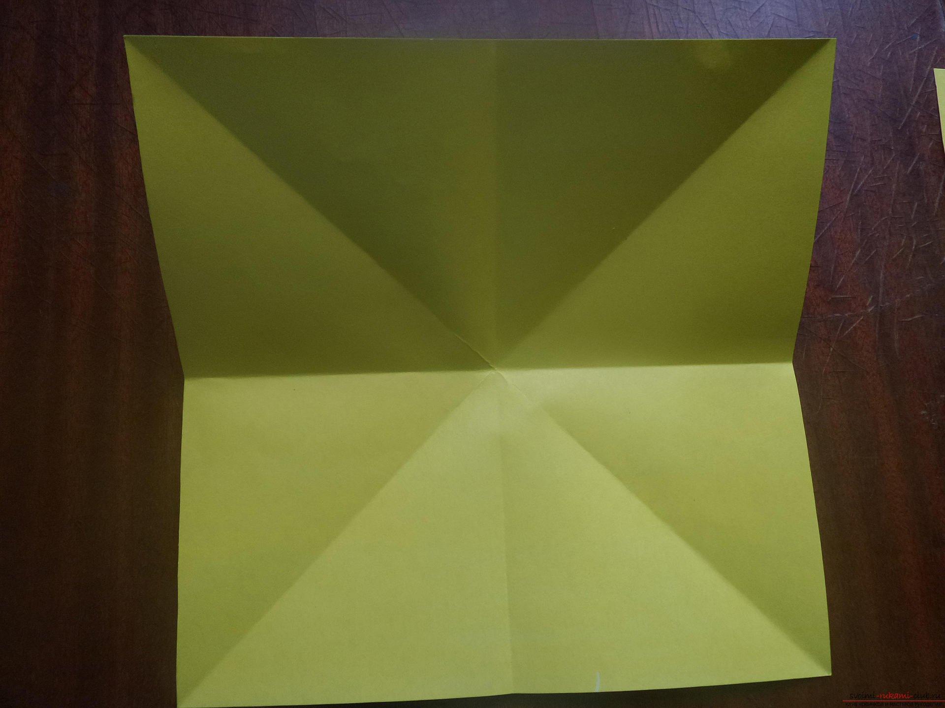 схема сборки оригами бантик