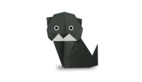 Оригами кошка: мастер класс по кошечке из бумаги, схема изготовления, фото и видео