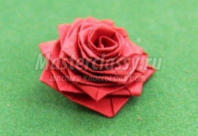 Как сделать из бумаги цветы видео роза 703
