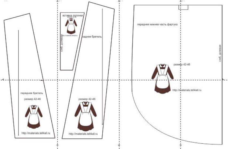Как сшить фартук для школьной формы выкройки