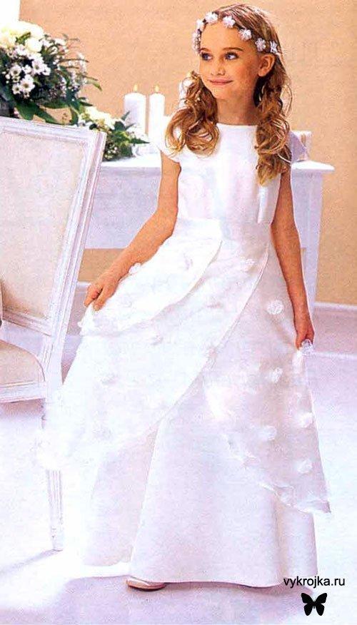 Выкройки платьев для девочек: бальных, крестильного платья и нарядных