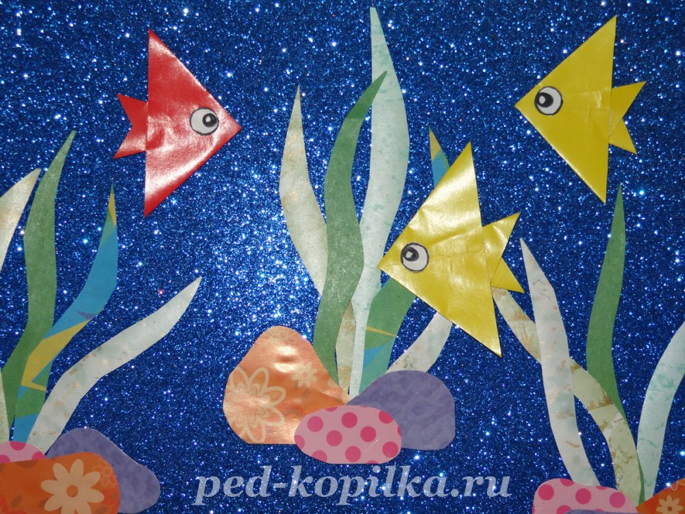Оригами рыбка