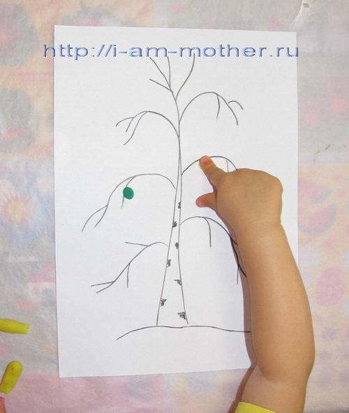 Картинки из пластилина природа на бумаге