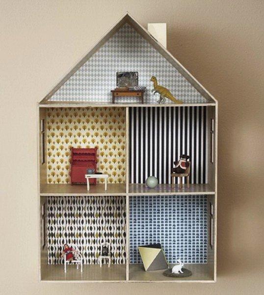 Как сделать большой дом для кукол фото 468