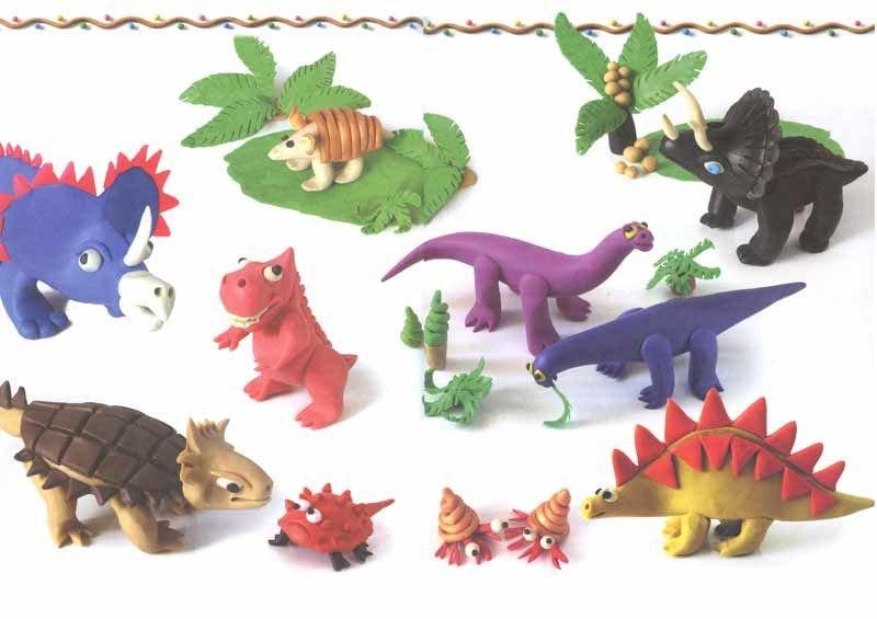Динозавры как сделать из пластилина