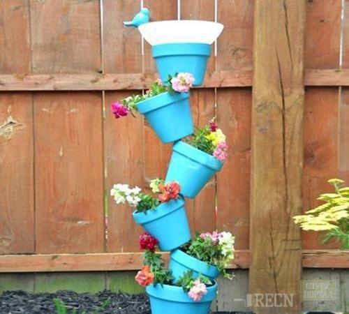 Подставка для цветов своими руками: деревянные и металлические подставки