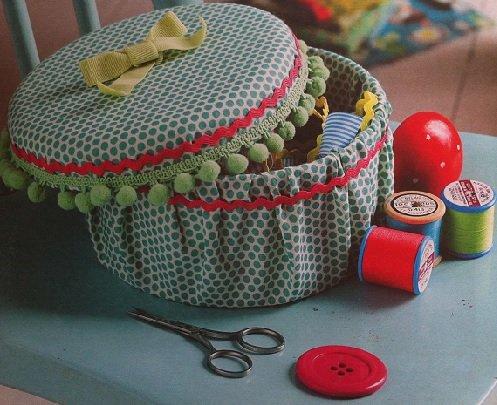 Сделать шкатулку для рукоделия из ткани своими руками фото 586