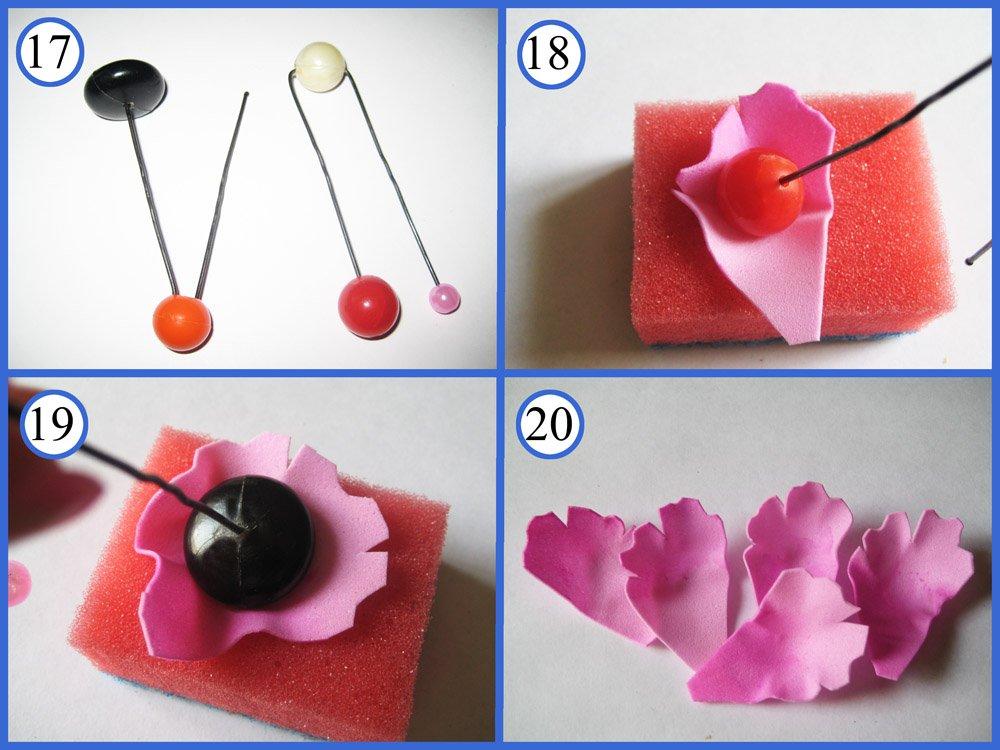 Изготовление цветов из фоамирана своими руками 35