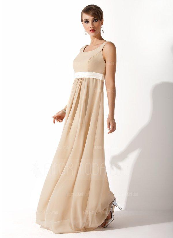 Платье в пол с высокой талией