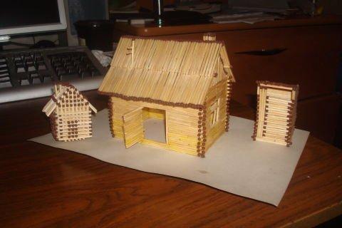 Дом из спичек своими руками 1145