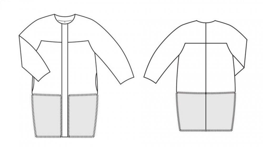 Выкройка пальто оверсайз: скачать шаблоны, фото и видео-инструкции пошагово