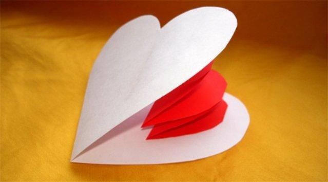 Как сделать валентинку из бумаги своими руками видео