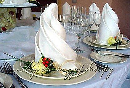 Схемы оригами из салфеток на стол: цветы розы и видео для сервировки стола