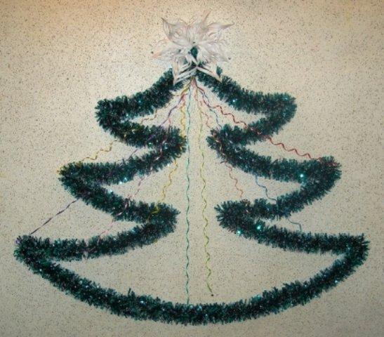 Сделать елку своими руками из мишуры на