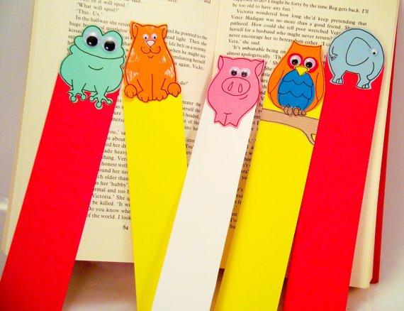 Поделка с детьми закладка для книг