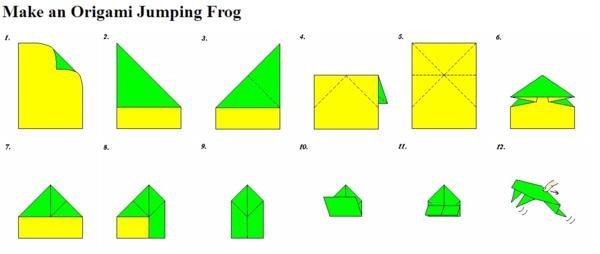 Как сделать оригами из бумаги лягушку чтобы прыгала