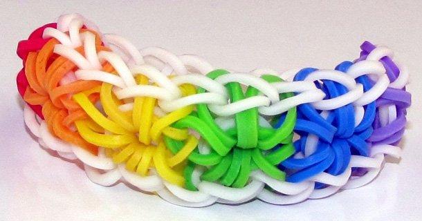 Плетение браслетов из резиночек на рогатке