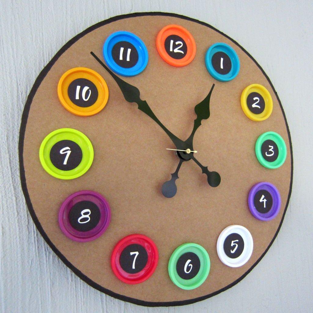 Как сделать свои часы из картона