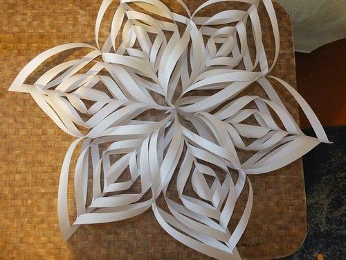 Объемные снежинки из бумаги: как сделать из полосок бумаги, схема и фото идеи