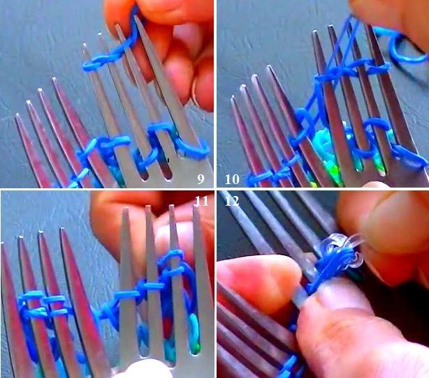 Плетение из резинок на вилке для начинающих: схемы как делать легкие и широкие браслеты