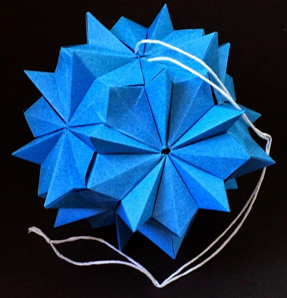 Кусудама из бумаги волшебный шар для начинающих