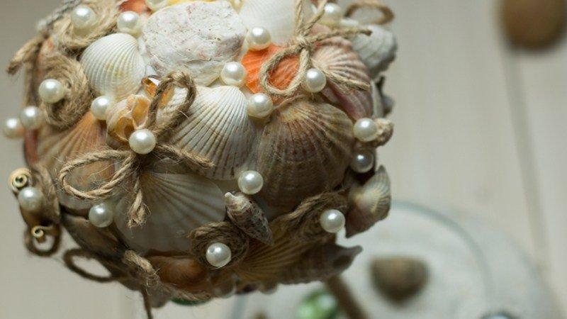 Топиарий из морских ракушек своими руками
