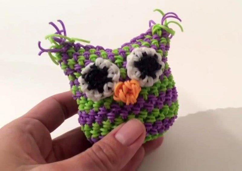 Плетение из резинок на рогатке для начинающих