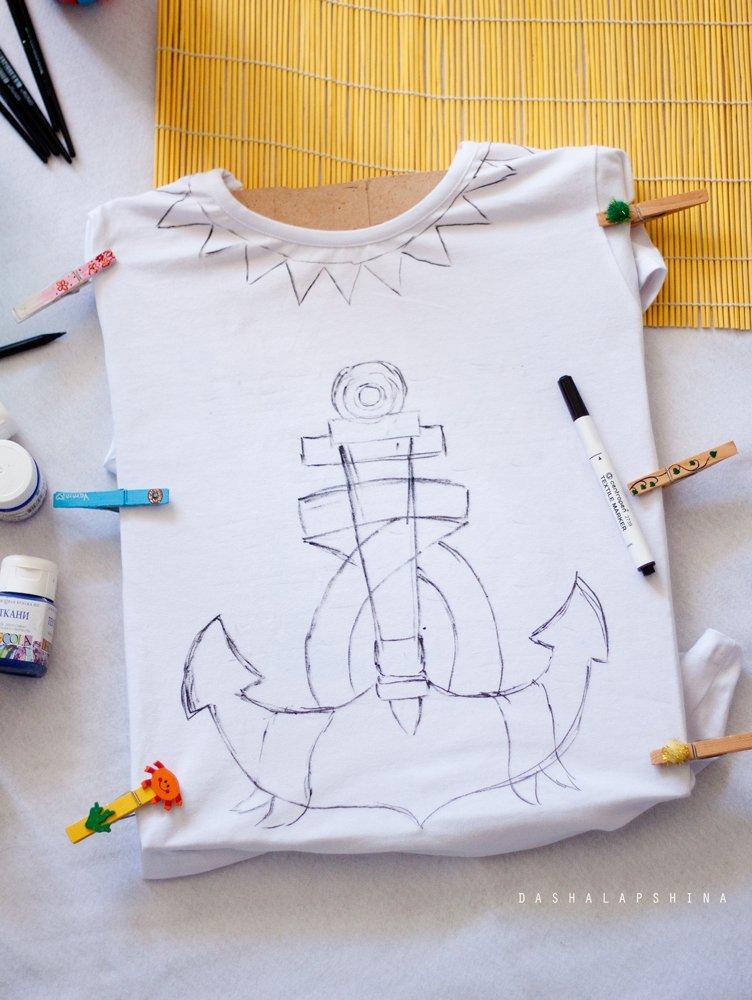 Сделать рисунок на футболку своими руками