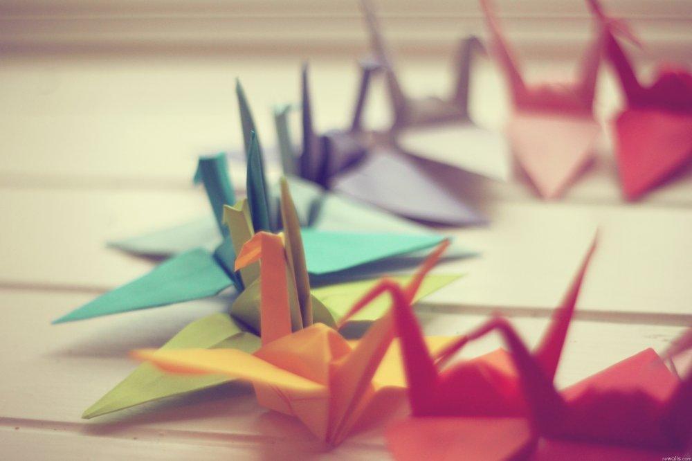 Необычные из бумаги оригами схемы