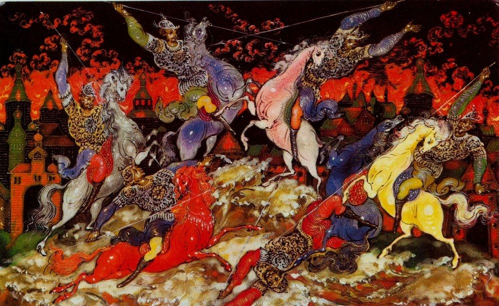 Палехская роспись: сюжеты, рисунки и техника изделия с фото-подборкой