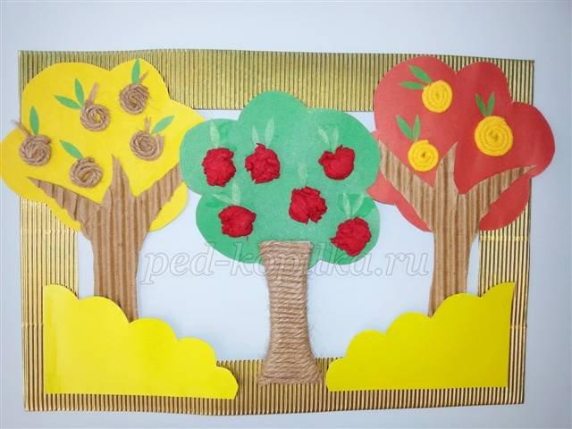 Картинки осени с цветной бумаги