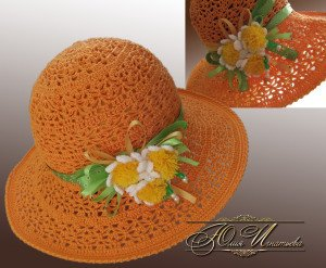 Летняя шляпка крючком: текстовые схемы на лето и на осень