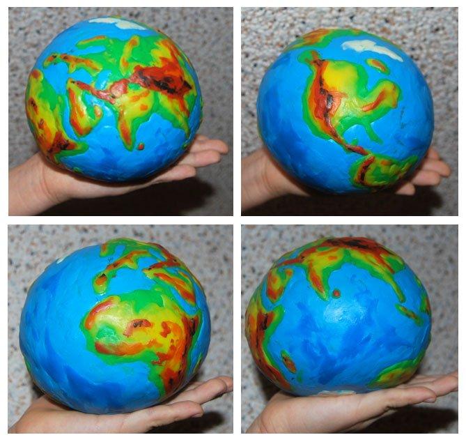 Поделки земного шара своими руками
