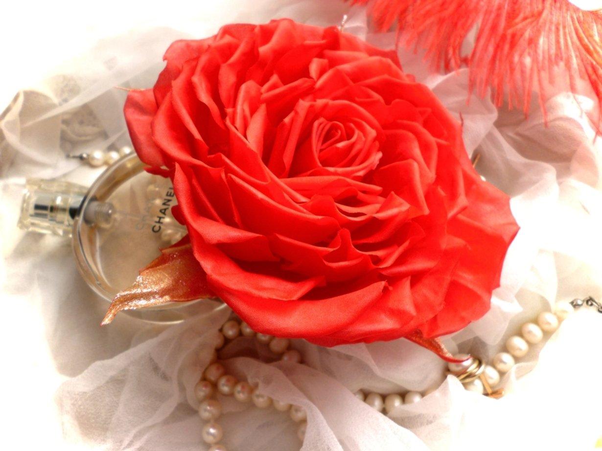 Брошь цветок из ткани своими руками как 58