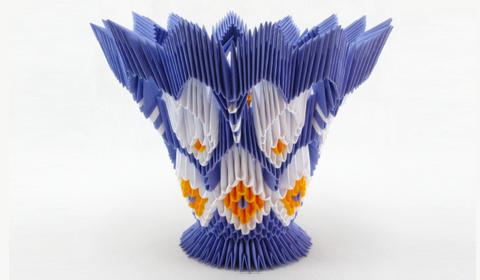 Оригами вазы схема сборки