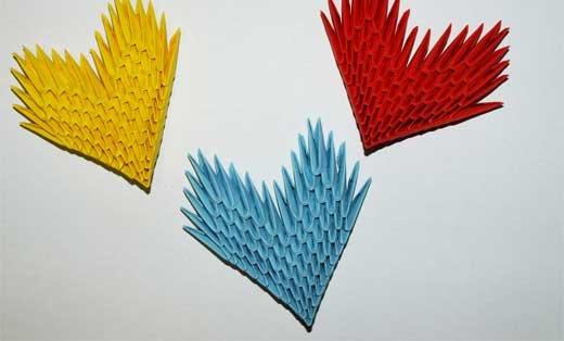 Объемное сердце: модульное оригами с видео и пошаговая инструкция для новичков