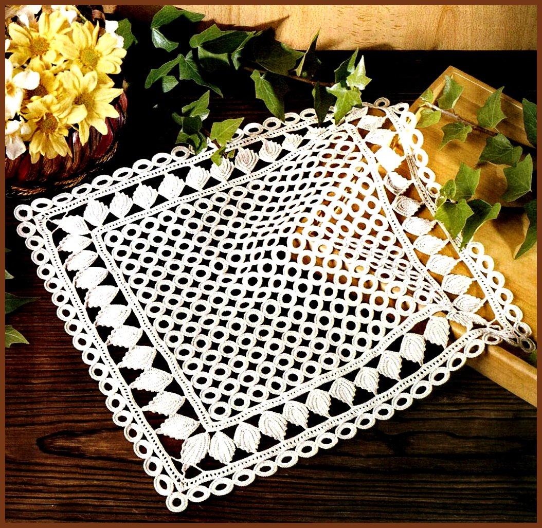 Салфетка Подсолнух Вязание крючком узоры для вязания