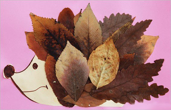 Аппликации из листьев: варианты для детей и для школьников с фото