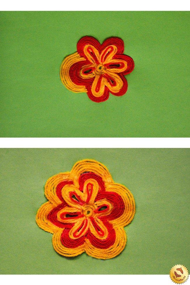 Как из ниток сделать цветочки