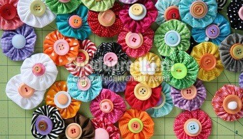 Аппликация цветы из ткани: шаблоны и схемы с фото
