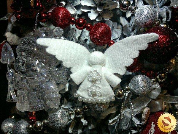Ангелочки своими руками шаблоны на елку 47