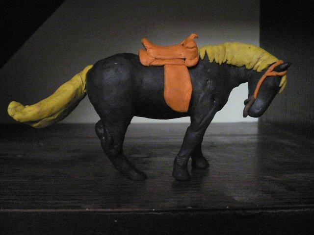 как слепить из пластилина лошадь инструкция