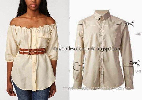 Платье из юбки и блузки своими руками