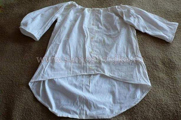 Блузка из мужской рубашки своими руками: мастер класс с видео