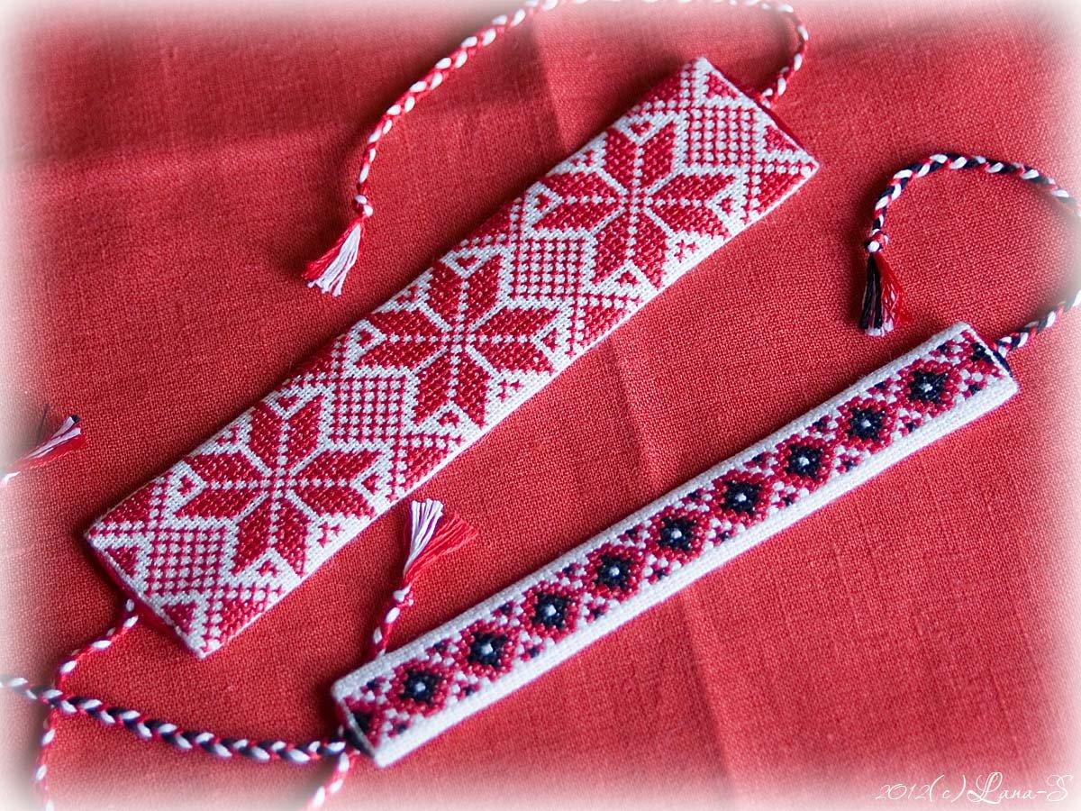 Браслет-оберег вышивка